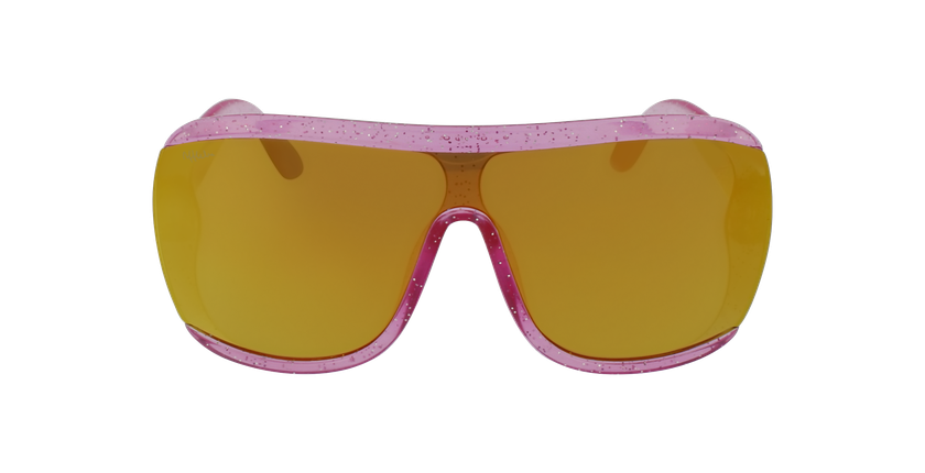 Lunettes de soleil enfant LORETA rose - Vue de face