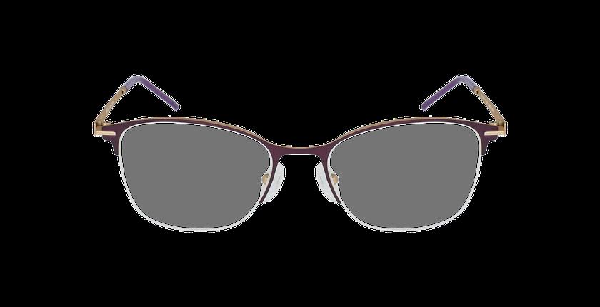 Lunettes de vue femme VEGA violet/doré - Vue de face