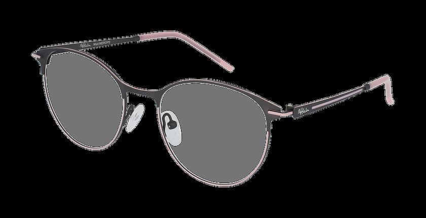 Lunettes de vue femme MEROPE gris/rose - vue de 3/4