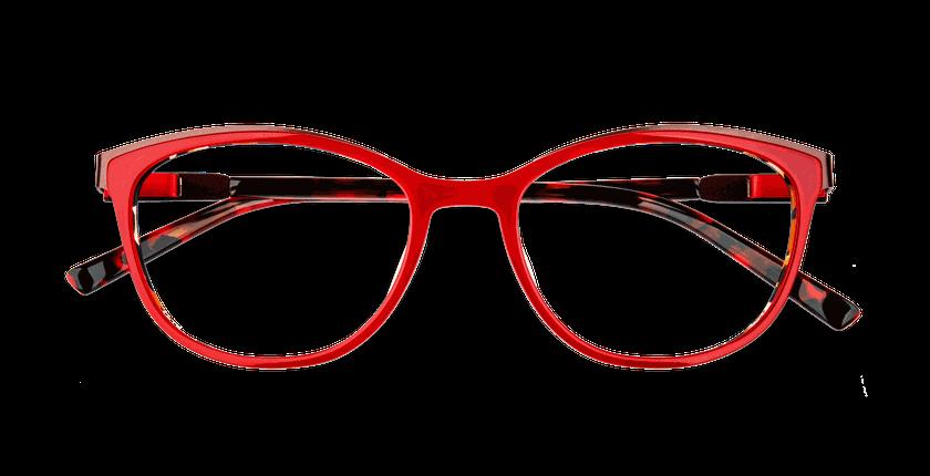 Lunettes de vue femme ALPHA7 rouge - Vue de face