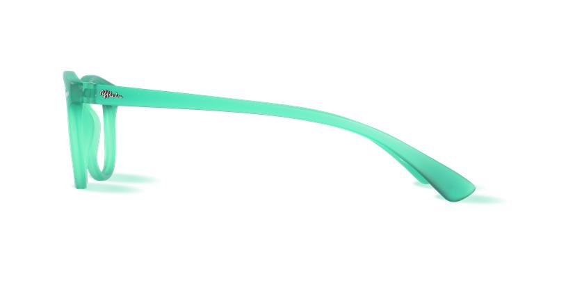 Lunettes de vue BLUE BLOCK MIXTE vert - Vue de côté