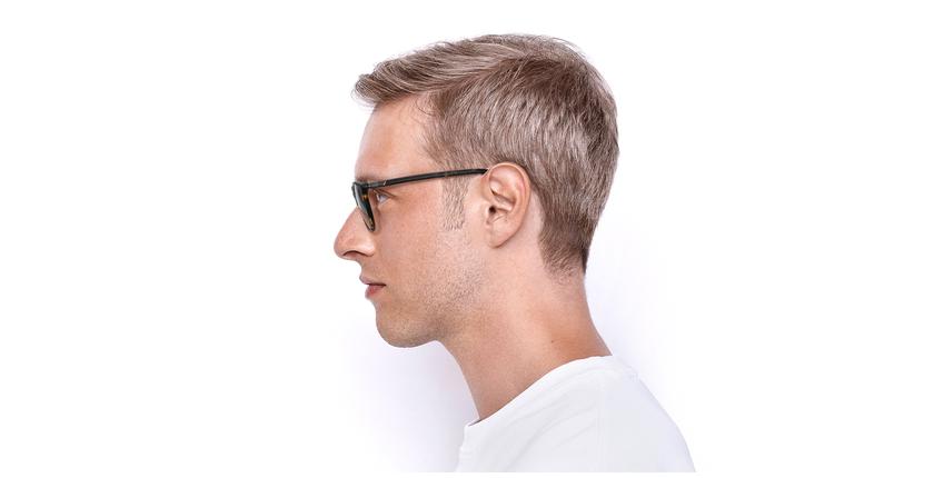 Lunettes de vue homme VPL883 marron - Vue de côté