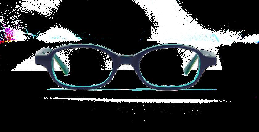 Lunettes de vue enfant JIM bleu/vert - Vue de face