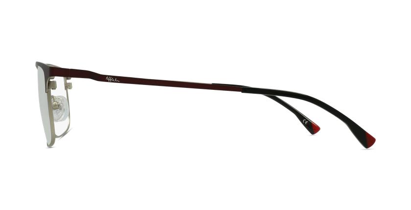 Lunettes de vue homme MAGIC 51 rouge/argenté - Vue de côté