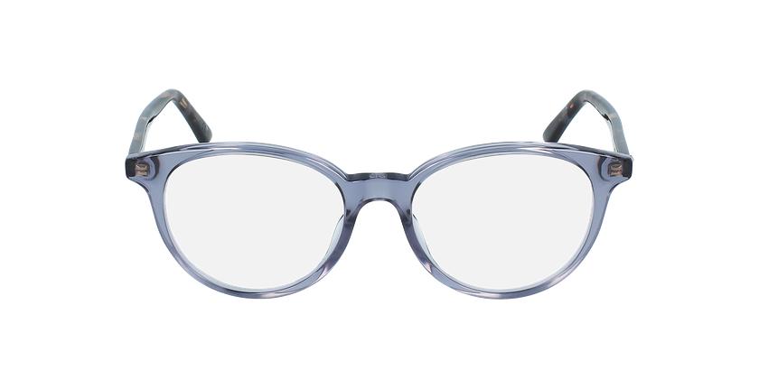 Lunettes de vue femme MONTAIGNE47 bleu/écaille - Vue de face