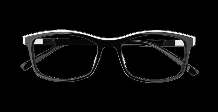 Lunettes de vue femme ALPHA6 noir - Vue de face