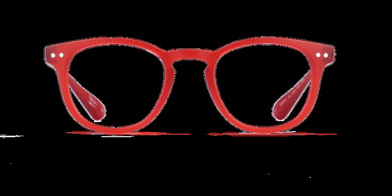 Lunettes de vue BLUE BLOCK MIXTE rougeVue de face