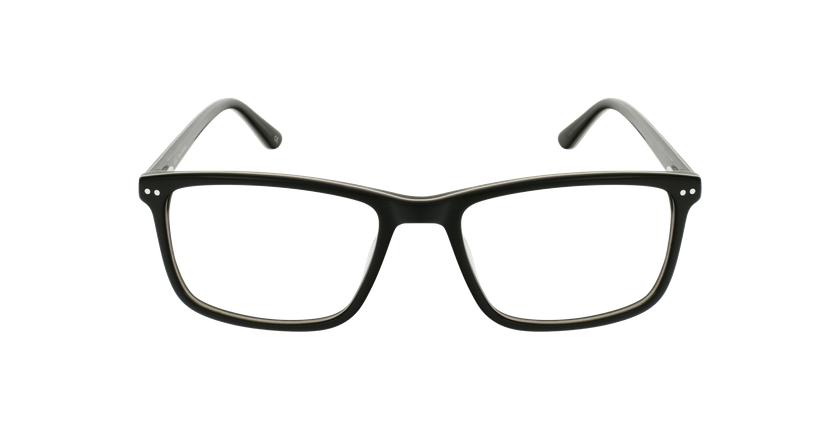 Lunettes de vue homme GWENDAL noir/gris - Vue de face