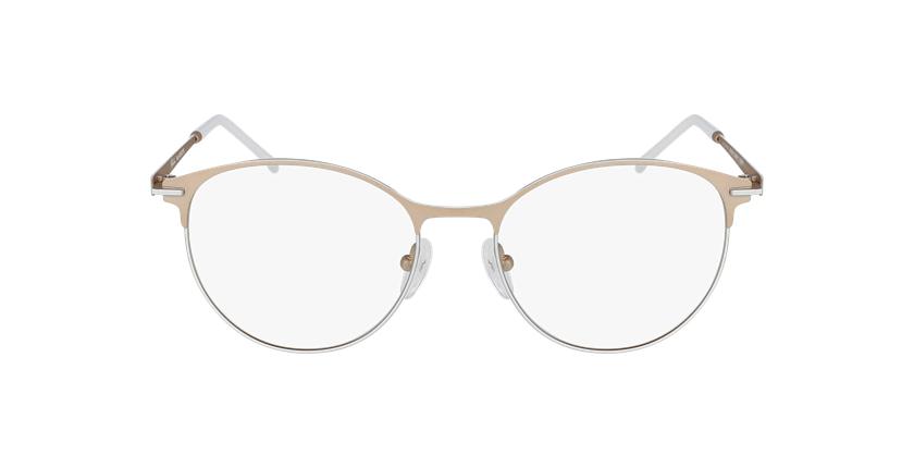 Lunettes de vue femme MEROPE beige/blanc - Vue de face