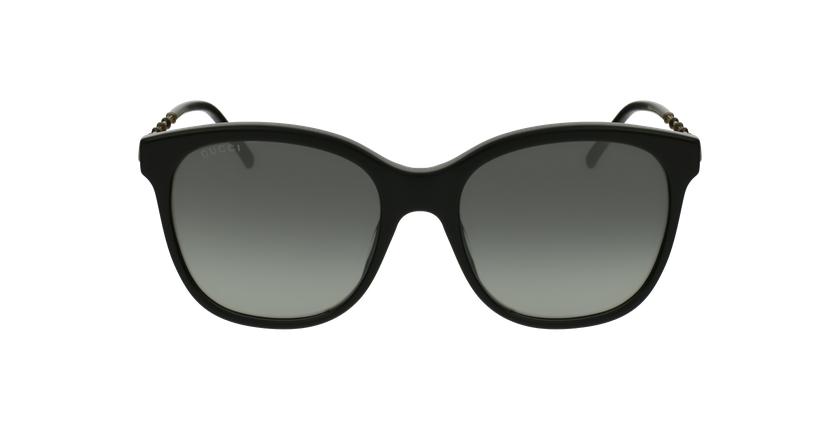 Lunettes de soleil femme GG654S noir - Vue de face