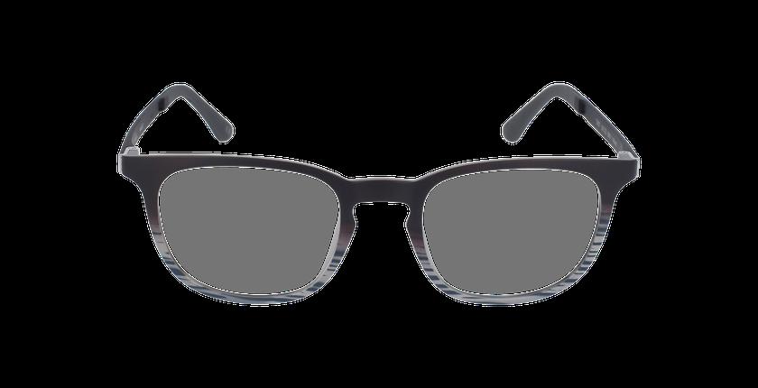 Lunettes de vue homme SMART TONIC 07 noir/noir / marron - Vue de face