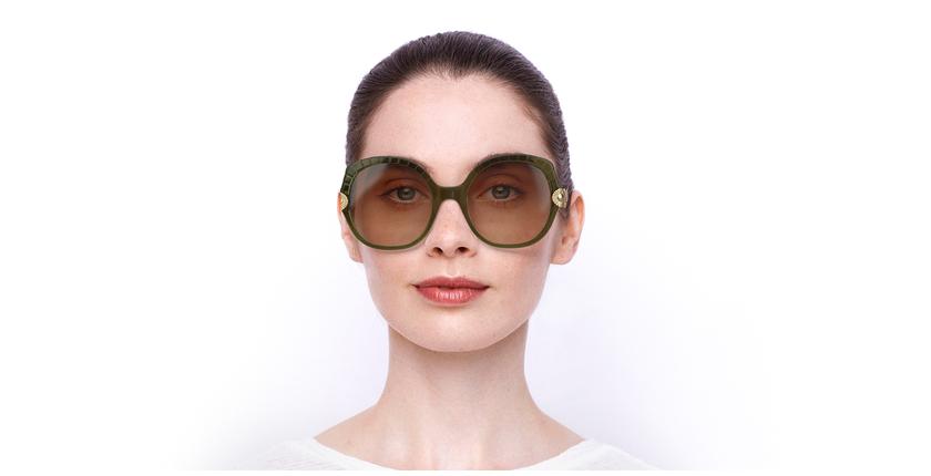 Lunettes de soleil femme CE749S blanc/vert - Vue de face