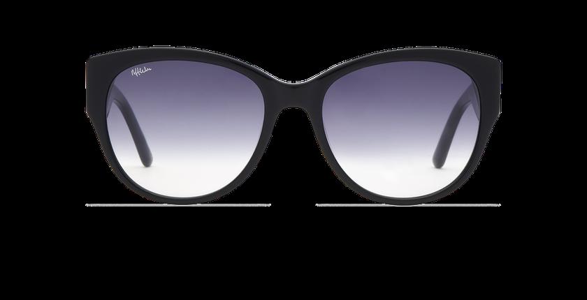Lunettes de soleil femme CLAUDIA noir - Vue de face