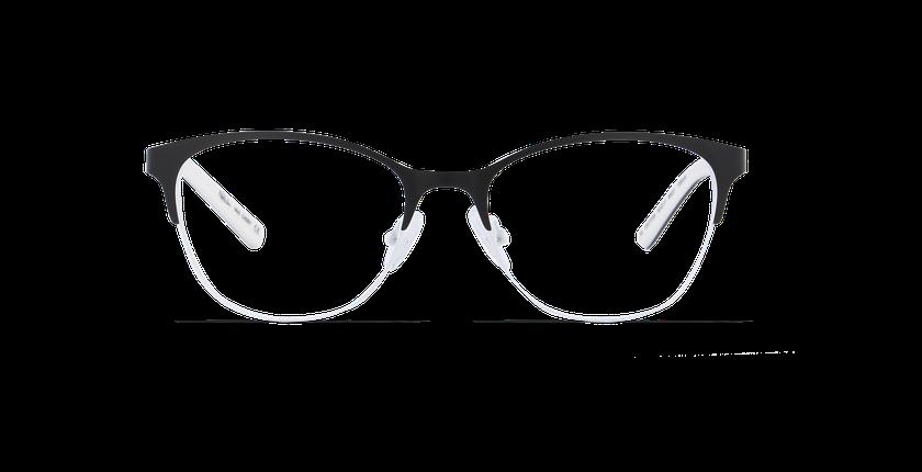 Lunettes de vue femme CASSY noir/blanc - Vue de face