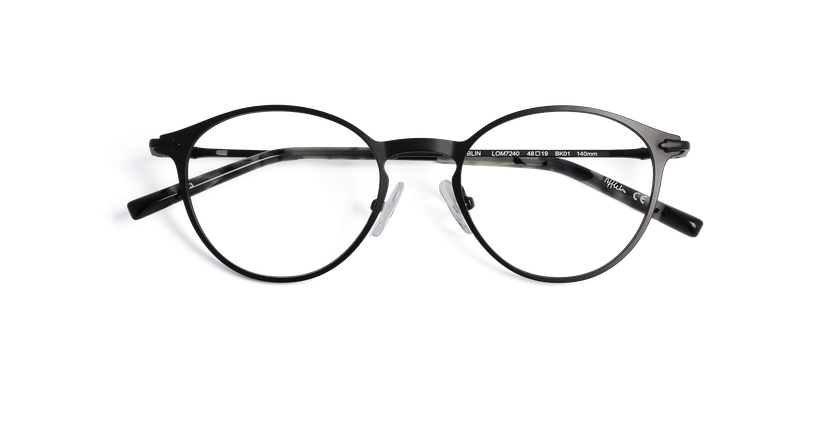Lunettes de vue homme DUBLIN noir - Vue de face