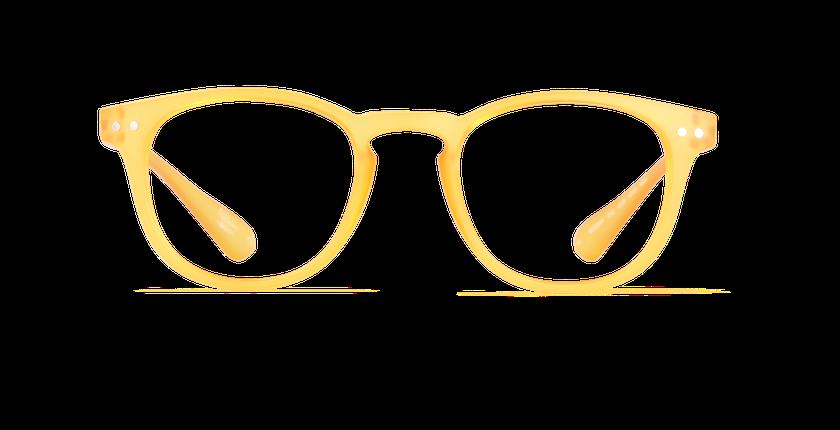 Lunettes de vue BLUE BLOCK MIXTE jaune - Vue de face