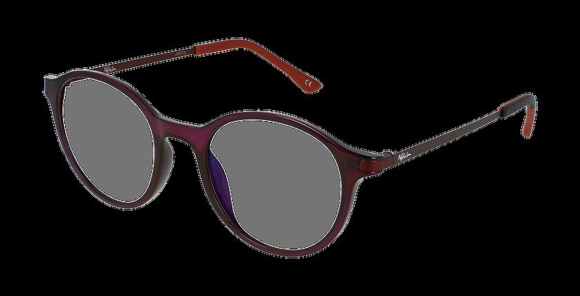 Lunettes de vue femme MAGIC 37 BLUEBLOCK violet - vue de 3/4