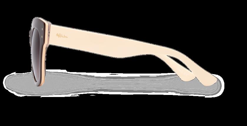 Lunettes de soleil femme ORNELLA marron - Vue de côté