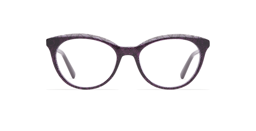 Lunettes de vue femme THALIA violet - Vue de face
