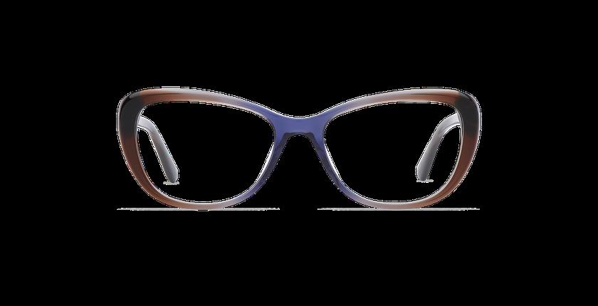 Lunettes de vue femme CINDY marron/violet - Vue de face