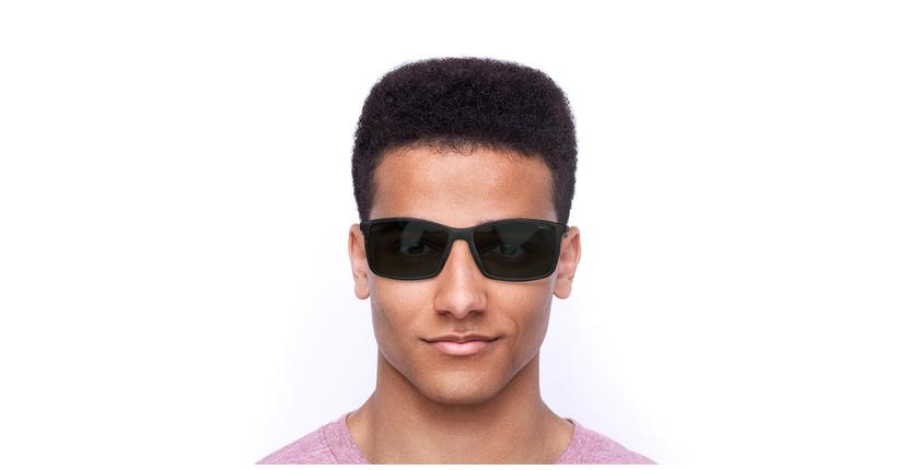 Lunettes de soleil homme SHAUN écaille - Vue de face
