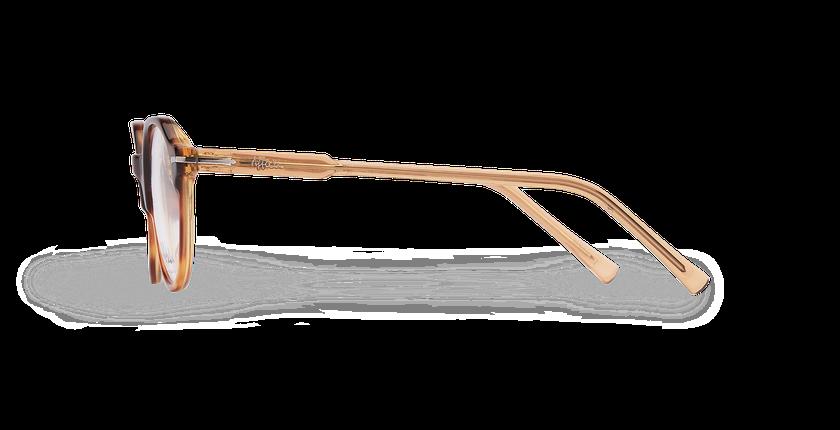 Lunettes de vue homme MOREZ écaille/marron - Vue de côté