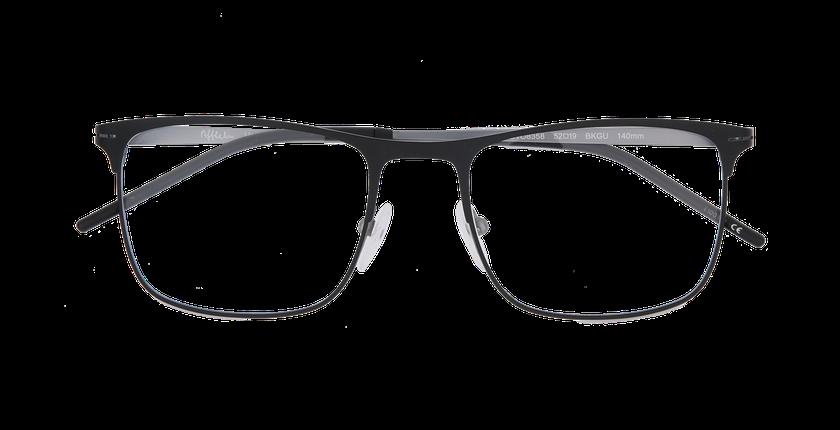 Lunettes de vue homme ARGON noir/argenté - Vue de face