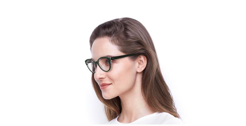 Lunettes de vue femme OAF20521 vert - vue de 3/4