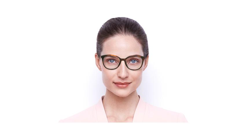 Lunettes de vue femme SIGHTO1 écaille - Vue de face