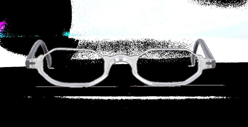 Lunettes de vue AFFLELOU FORTY cristal - Vue de face