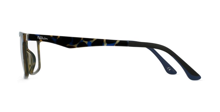 Lunettes de vue homme MAGIC 32 écaille/bleu - Vue de côté