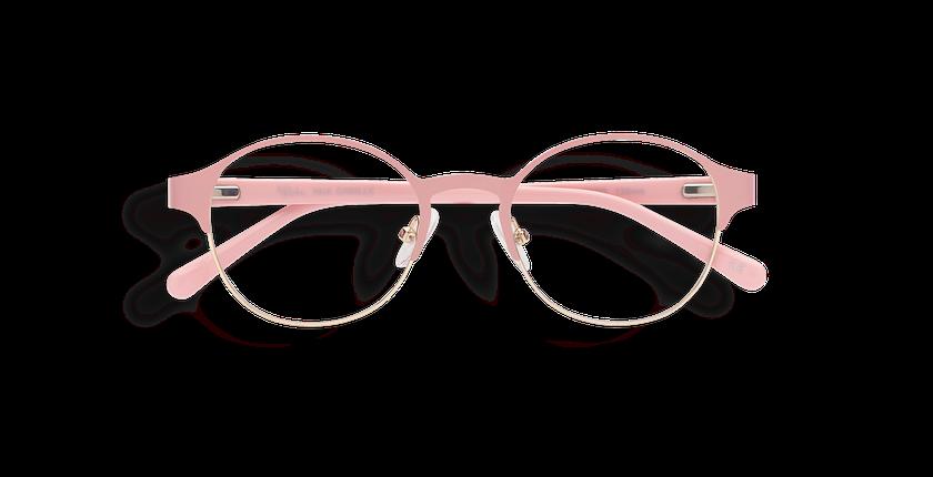 Lunettes de vue femme CAMILLE rose/doré - Vue de face
