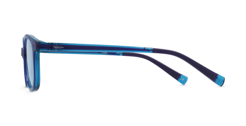 Lunettes de vue enfant RFOM1 violet/turquoise - Vue de côté