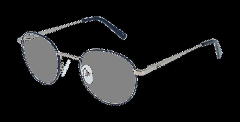 Lunettes de vue homme MARIN bleu/gris - vue de 3/4