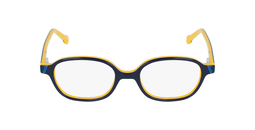 Lunettes de vue enfant BOAT bleu/jaune - Vue de face