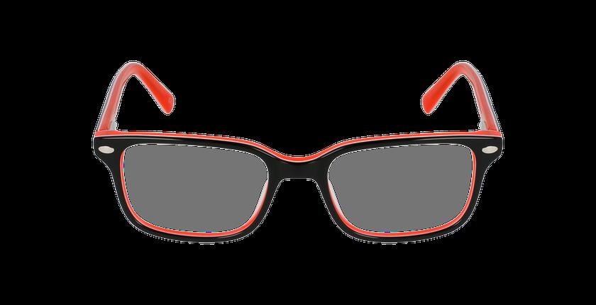 Lunettes de vue enfant EDDIE noir/orange - Vue de face
