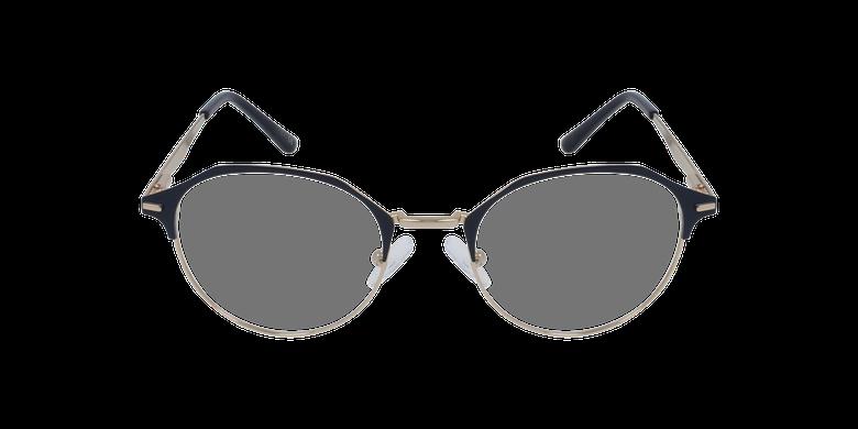 Lunettes de vue femme OAF20524 bleu/doréVue de face