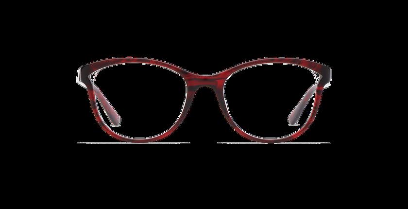 Lunettes de vue femme MADELINE rouge - Vue de face