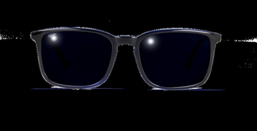 Lunettes de soleil homme SILVIO noir/bleu - Vue de face