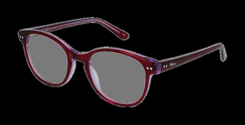 Lunettes de vue enfant TESS rose/violet - vue de 3/4