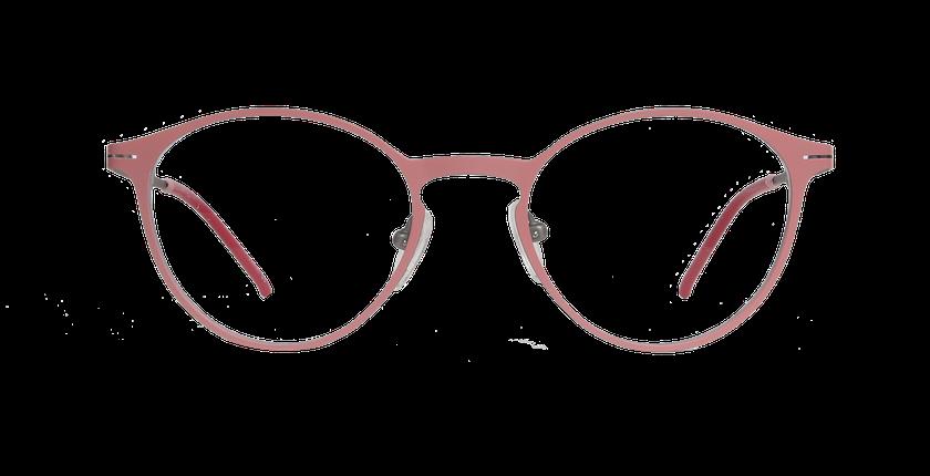 Lunettes de vue femme OXYGEN rose/argenté - Vue de face