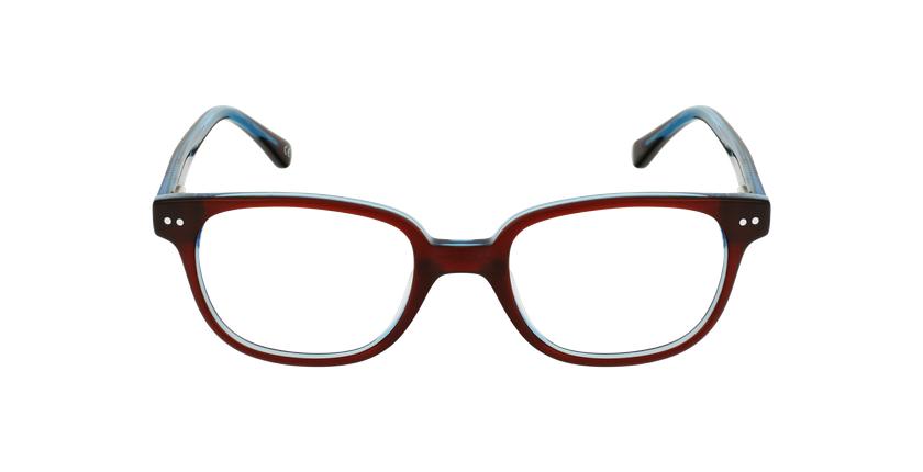 Lunettes de vue enfant MARCEL rouge/bleu - Vue de face