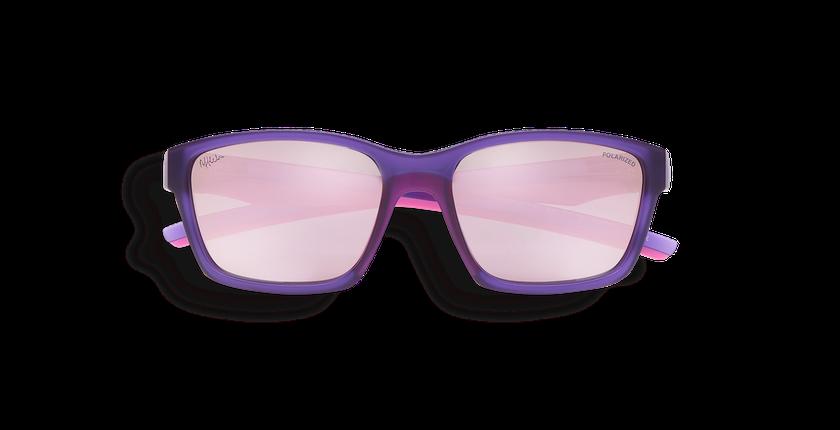 Lunettes de soleil enfant JOE violet - Vue de face