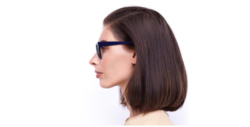 Lunettes de soleil femme BRITANY bleu - Vue de côté