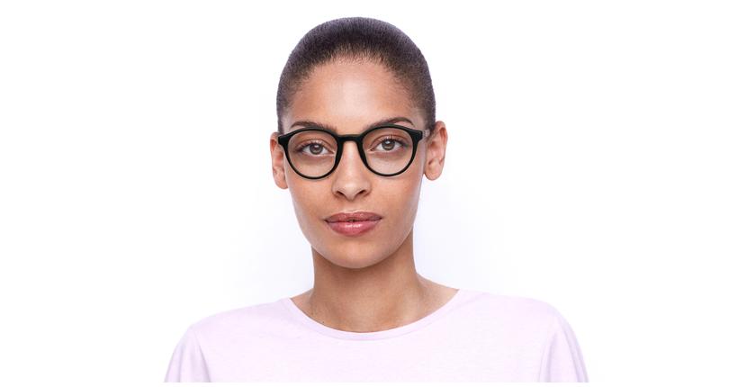 Lunettes de vue femme FLORA violet - Vue de face