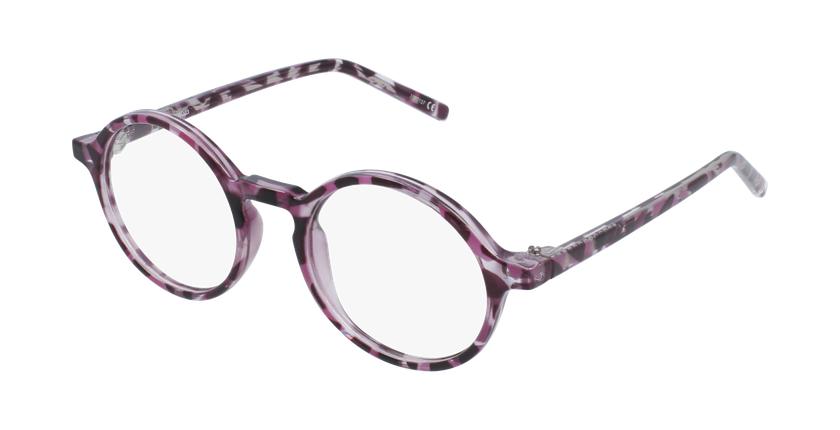 Lunettes de vue enfant RZERO23 violet/écaille - vue de 3/4