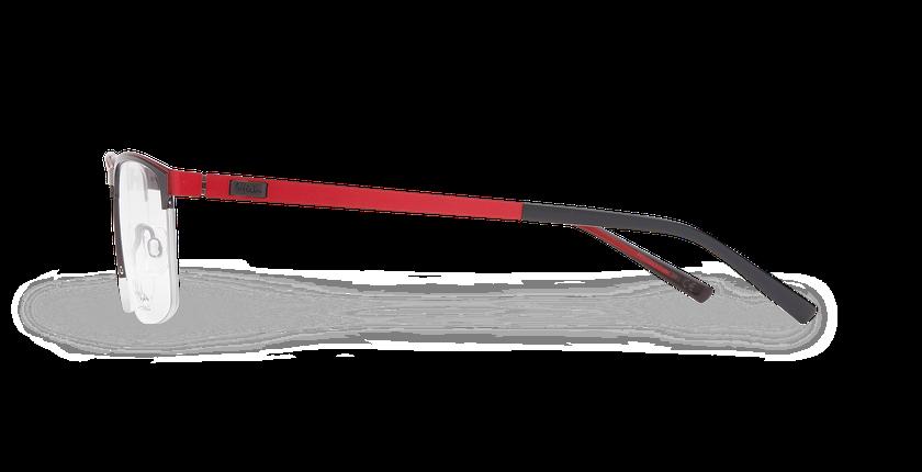 Lunettes de vue homme ALPHA16 gris/rouge - Vue de côté