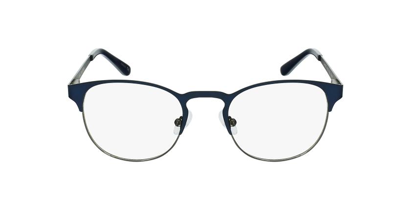 Lunettes de vue homme XAVIER bleu/argenté - Vue de face