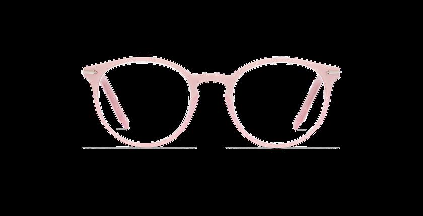 Lunettes de vue femme OYONNAX rose - Vue de face