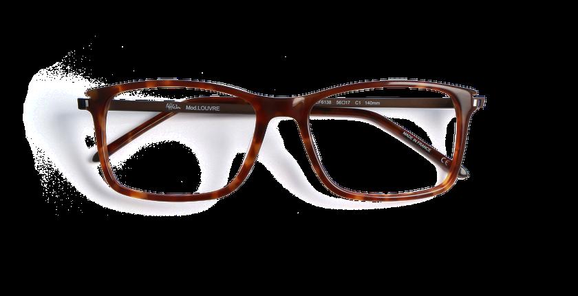 Lunettes de vue homme LOUVRE écaille - Vue de face